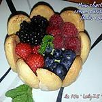 recette mini Charlotte, crème pâtissière aux 4 fruits rouges (80)
