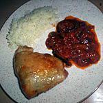recette Poulet accompagné de ses aubergine a la provençale