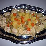 recette Sauté de dinde aux carottes, pommes de terre et champignons de Paris