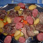 recette Plat de cotes et morteau en pot au feu