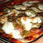 recette Lasagnes jambon cru, pesto & mozzarella