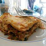 Lasagnes sauce tomate béchamel mozzarella