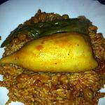recette Riz au calamars farcis (recette tunisienne)