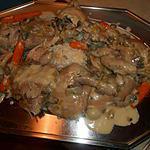 recette Poule en blanquette