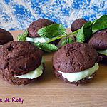 recette Whoopies after eight menthe chocolat