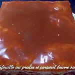 recette Millefeuille au praliné, caramel beurre salé
