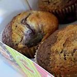 Muffins au yaourt marbré au cacao