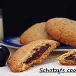 recette Cookies cœur de pâte à tartiner Noccialata et petits flocons d'avoine