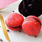 recette Macarons framboise, hibiscus, rose et poivre de Séchuan