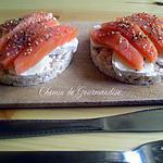 recette Galette chèvre & saumon