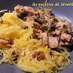 recette courge spaghetti et poivrons caramélisés