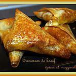 recette Samossas de boeuf aux épices et mozzarella
