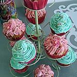 recette cupcake creme au beurre vanille / fraise