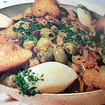 recette Ragoût de veau aux olives