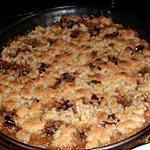 recette Crumble pomme-poire , chocolat.