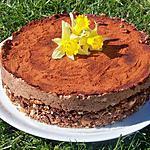 recette gâteau  mousseux choco amandes pour fêter l'arriver du printemps