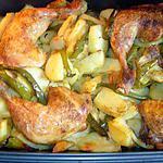 recette Cuisses de poulet à la catalane