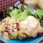 recette Tartiflette aux deux pommes et viande des grisons