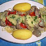 Tete de veau tomates oignons vinaigrette