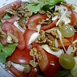 recette PETIT  DINER DU VENDREDI SOIR POUR SABINE ET ERIC N° 4 (salade au raisin)