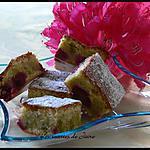 recette moelleux à la pistache et à la framboise