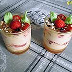 recette verrines aux fraises