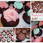 Cupcakes chocolat et glaçage vanille