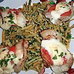 recette Piccata de veau mozzarella,haricots beurre