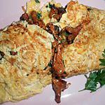 Omelette aux girolles