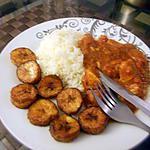 recette Blancs de poulet façon Colombo et bananes plantains