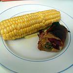 Poulet bacon en croute de jambon cru fumé et maiis