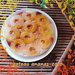 recette gateau coco-ananas caramelisé
