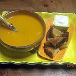 recette Velouté de carottes à la crème fraiche.