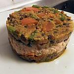 recette timbale à la mousse de saumon lentilles et couscous (plat complet)