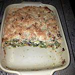 recette Crumble de courgettes au bacon et chèvre