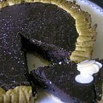 recette Tarte sucrée épicée au chocolat très noir