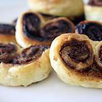 recette Palmier Nutella/Coco