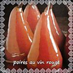 recette poires au vin rouge