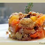 recette Crumble de Papaye, et de mangue, au miel et aux épices.