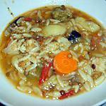 Soupe de légumes aux bagos