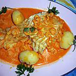 recette Filet de cabillaud aux crevettes