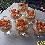 recette verrines abricots/meringues