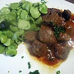 recette Sauté de boeuf aux fèves. Massalé.