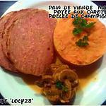 recette Pain de viande maison avec sa potée aux carottes et sa poêlée de champignons (125)