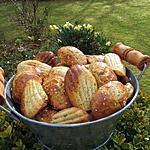 recette Madeleines salées au sésame et sauce menthe ,