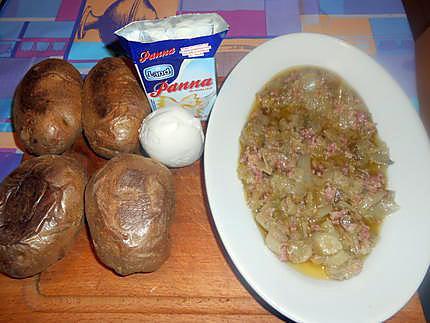 Pommes de terre farcies aux endives et lardons 430