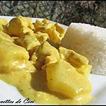 recette Poulet à l'ananas sauce coco au curry