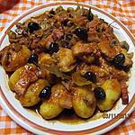 recette Aiguillettes de poulet en sauce madère.