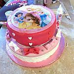 Gateau pate a sucre theme princesse