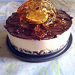 recette Bavarois clémentine chocolat sur sont lit qui croustille